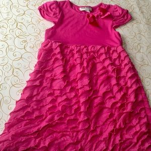 Girls pink dress size 6!